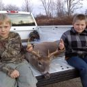 Boys with Jon deer